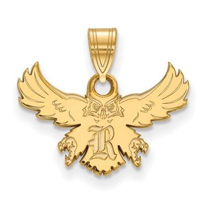 Picture of Rice University Owls 14k Yellow Gold Small Pendant