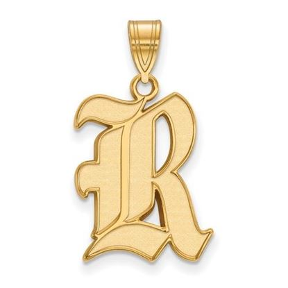 Picture of Rice University Owls Sterling Silver Gold Plated Large Pendant