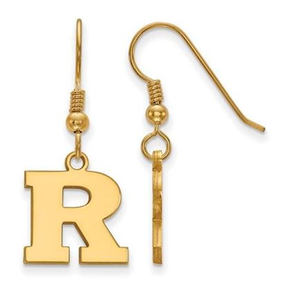 Picture of Rutgers University Scarlet Knights Sterling Silver Gold Plated Small Dangle Earrings