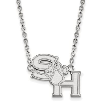 Picture of Sam Houston State University Bearkats 10k White Gold Large Necklace