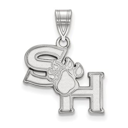 Picture of Sam Houston State University Bearkats 10k White Gold Medium Pendant