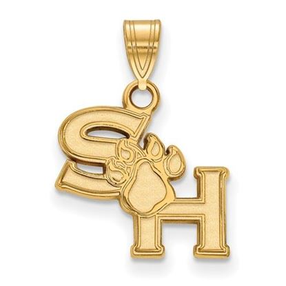 Picture of Sam Houston State University Bearkats Sterling Silver Gold Plated Small Pendant