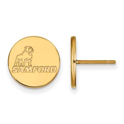 Picture of Samford University Bulldogs Sterling Silver Gold Plated Small Post Earrings