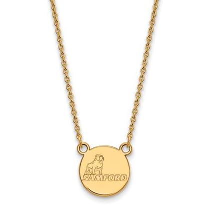 Picture of Samford University Bulldogs 10k Yellow Gold Small Necklace