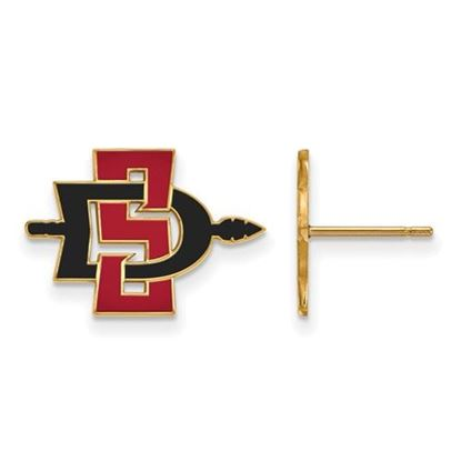 Picture of San Diego State University Aztecs 10k Yellow Gold Small Post Earrings