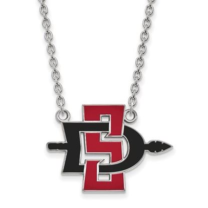 Picture of San Diego State University Aztecs 14k White Gold Large Necklace