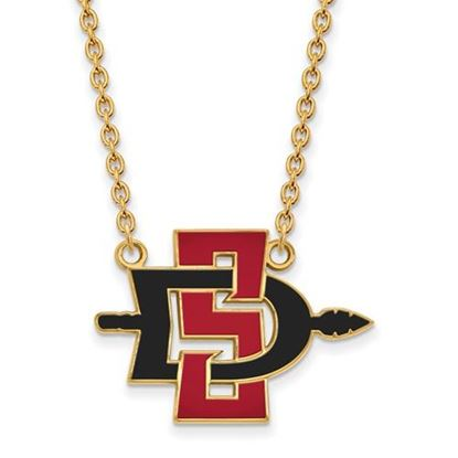 Picture of San Diego State University Aztecs Sterling Silver Gold Plated Large Necklace