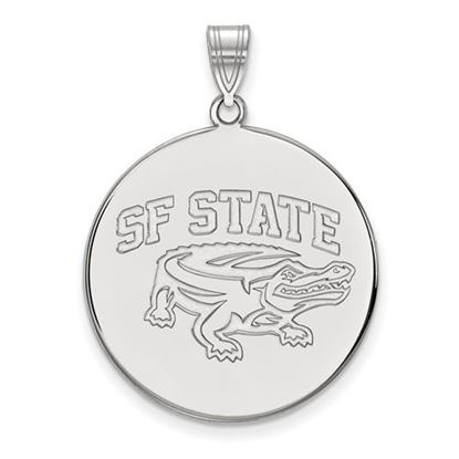 Picture of San Francisco State University Gators 14k White Gold Extra Large Disc Pendant