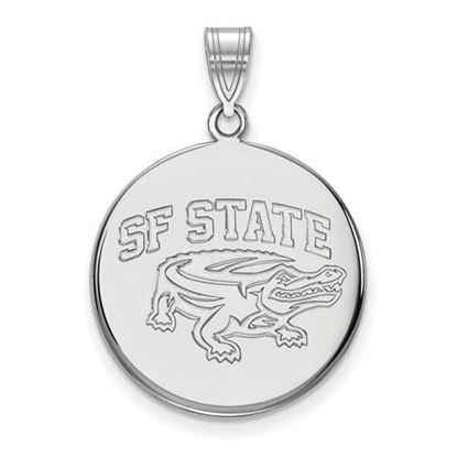 Picture of San Francisco State University Gators 14k White Gold Large Disc Pendant