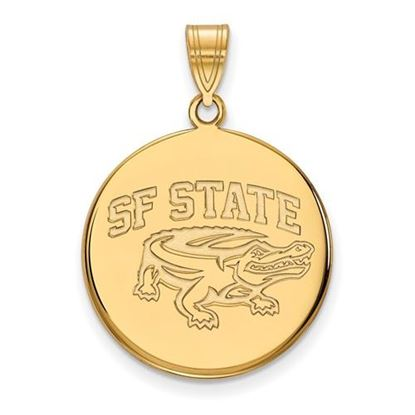 Picture of San Francisco State University Gators Sterling Silver Gold Plated Large Disc Pendant
