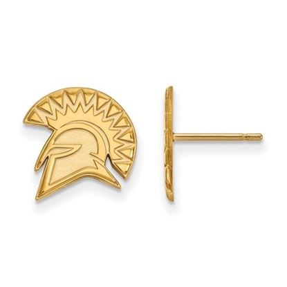 Picture of San Jose State University Spartans 10k Yellow Gold Small Post Earrings