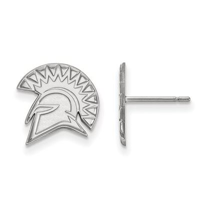 Picture of San Jose State University Spartans 14k White Gold Small Post Earrings