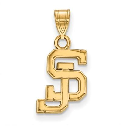 Picture of San Jose State University Spartans Sterling Silver Gold Plated Small Pendant