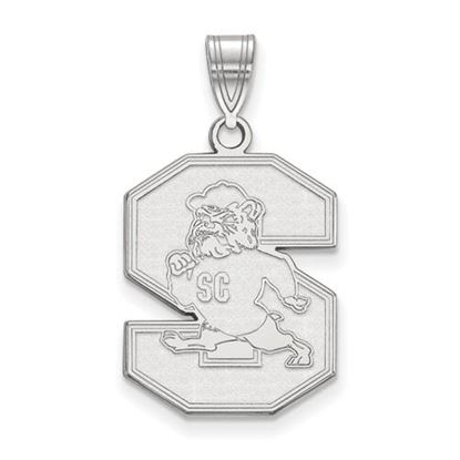 Picture of South Carolina State University Bulldogs 10k White Gold Large Pendant