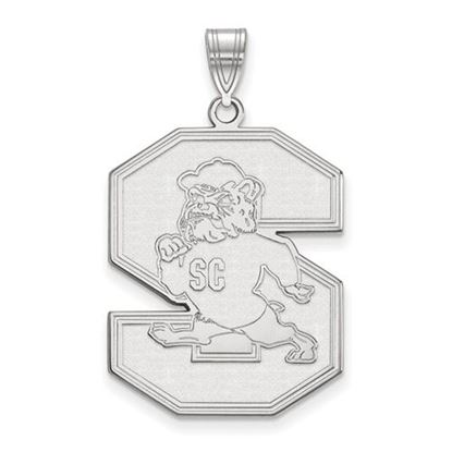 Picture of South Carolina State University Bulldogs 14k White Gold Extra Large Pendant
