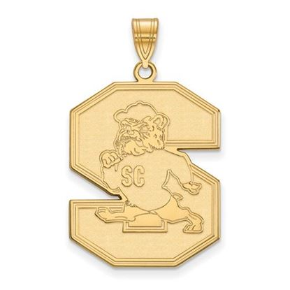 Picture of South Carolina State University Bulldogs Sterling Silver Gold Plated Extra Large Pendant