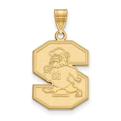 Picture of South Carolina State University Bulldogs Sterling Silver Gold Plated Large Pendant