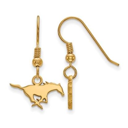 Picture of Southern Methodist University Mustangs Sterling Silver Gold Plated Extra Small Dangle Earrings