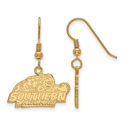 Picture of Southern University Jaguars Sterling Silver Gold Plated Small Dangle Earrings