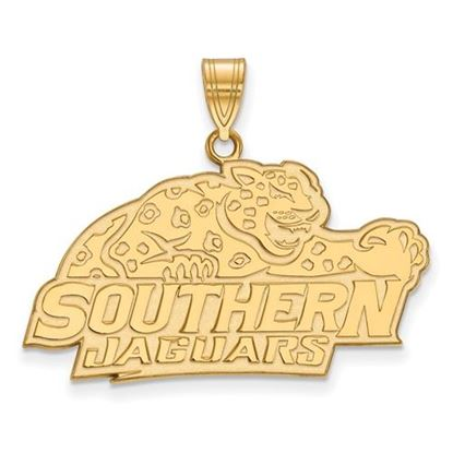 Picture of Southern University Jaguars Sterling Silver Gold Plated Large Pendant