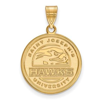 Picture of St. Joseph's University Hawks 10k Yellow Gold Large Pendant