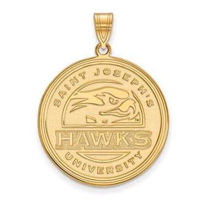 Picture of St. Joseph's University Hawks 14k Yellow Gold Extra Large Pendant