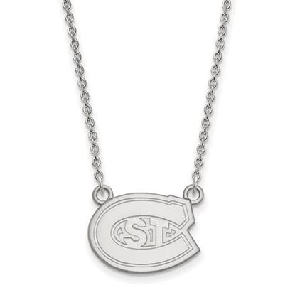 Picture of St. Cloud State University Huskies 10k White Gold Small Necklace