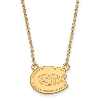 Picture of St. Cloud State University Huskies 10k Yellow Gold Small Necklace