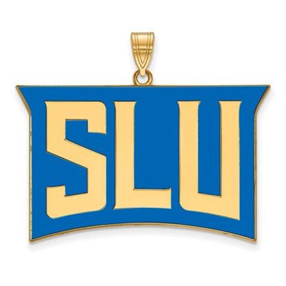 Picture of St. Louis University Billikens Sterling Silver Gold Plated Extra Large Enameled Pendant