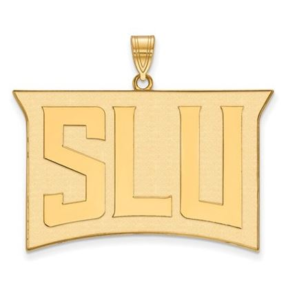 Picture of St. Louis University Billikens Sterling Silver Gold Plated Extra Large Pendant
