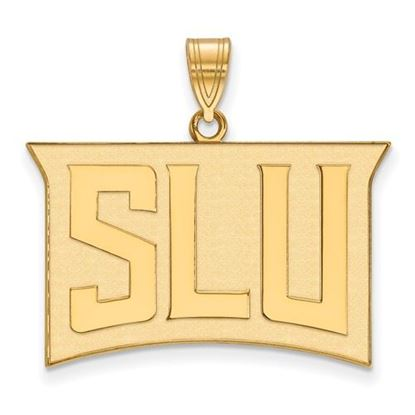 Picture of St. Louis University Billikens Sterling Silver Gold Plated Large Pendant