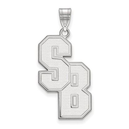 Picture of Stony Brook University Seawolves 10k White Gold Extra Large Pendant