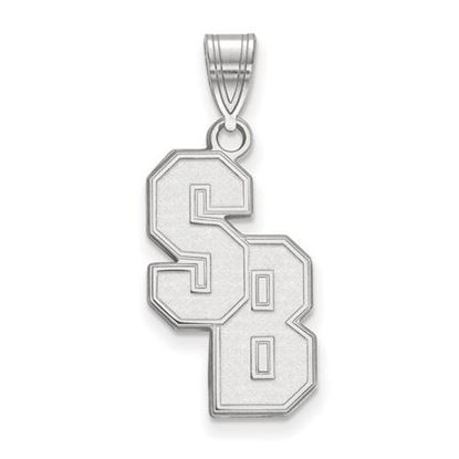 Picture of Stony Brook University Seawolves 10k White Gold Large Pendant