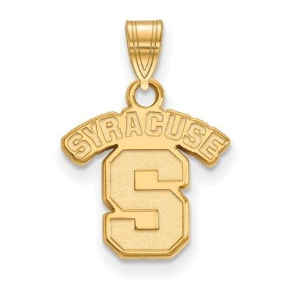 Picture of Syracuse University Orange Sterling Silver Gold Plated Small Pendant