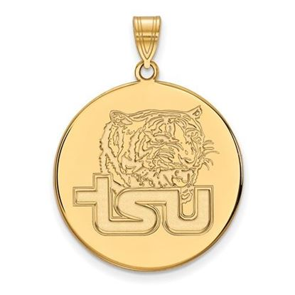 Picture of Tennessee State University Tigers Sterling Silver Gold Plated Extra Large Disc Pendant
