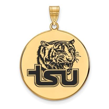 Picture of Tennessee State University Tigers Sterling Silver Gold Plated Extra Large Enameled Disc Pendant