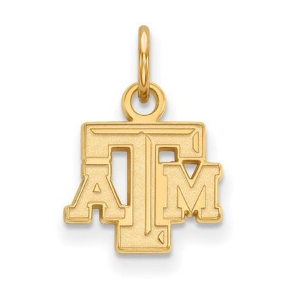 Picture of Texas A&M University Aggies Sterling Silver Gold Plated Extra Small Pendant