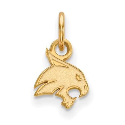 Picture of Texas State University Bobcats Sterling Silver Gold Plated Extra Small Pendant