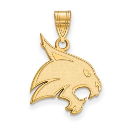 Picture of Texas State University Bobcats Sterling Silver Gold Plated Large Pendant