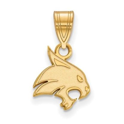 Picture of Texas State University Bobcats Sterling Silver Gold Plated Small Pendant