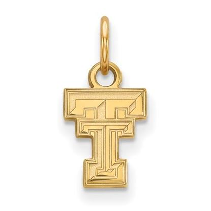 Picture of Texas Tech University Red Raiders Sterling Silver Gold Plated Extra Small Pendant