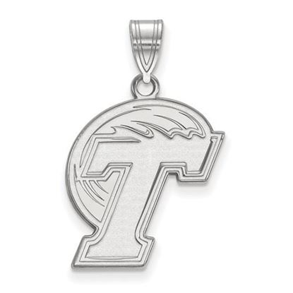 Picture of Tulane University Green Wave 10k White Gold Large Pendant