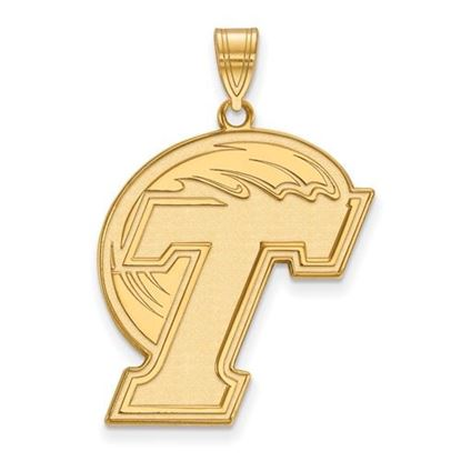 Picture of Tulane University Green Wave 10k Yellow Gold Extra Large Pendant