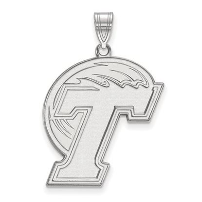 Picture of Tulane University Green Wave 14k White Gold Extra Large Pendant