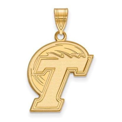 Picture of Tulane University Green Wave Sterling Silver Gold Plated Large Pendant