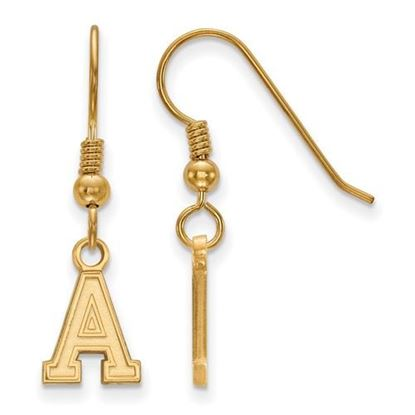 Picture of U.S. Military Academy Black Knights Sterling Silver Gold Plated Extra Small Dangle Earrings