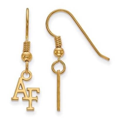 Picture of U.S. Air Force Academy Falcons Sterling Silver Gold Plated Extra Small Dangle Earrings