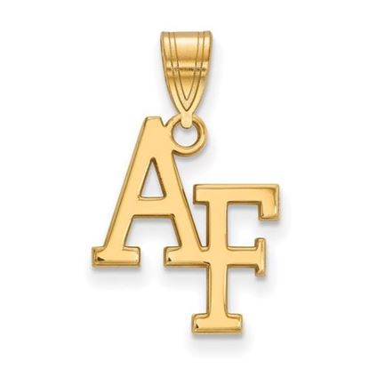 Picture of U.S. Air Force Academy Falcons Sterling Silver Gold Plated Medium Pendant
