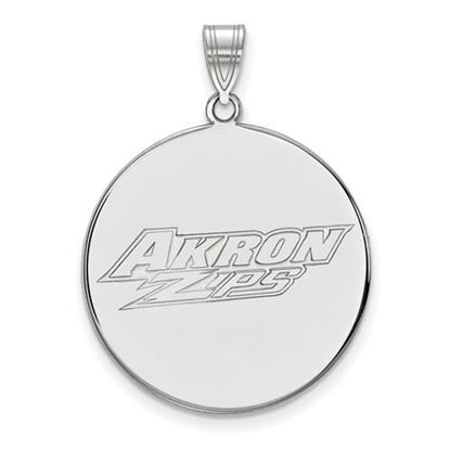 Picture of University of Akron Zips 10k White Gold Extra Large Disc Pendant