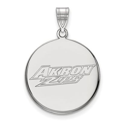 Picture of University of Akron Zips 14k White Gold Large Disc Pendant